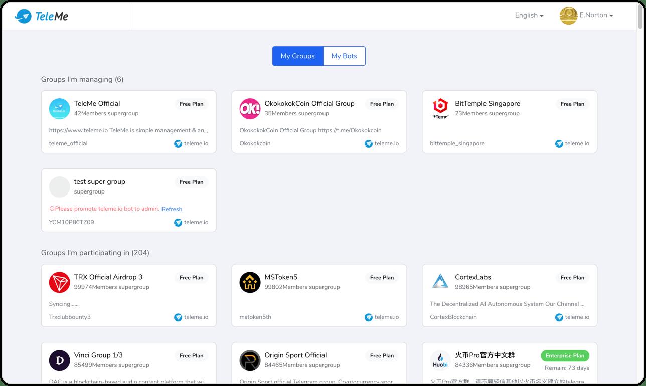Handy tools for managing ever-growing Telegram groups - TeleMe